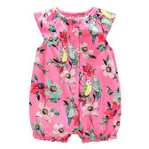 短袖連身 Carter's / Carter / 卡特 短袖連身衣 / 哈衣 - 桃粉花卉小鳥 118G947