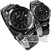 mono 海芋系列數字圓錶 藍寶石水晶 日期IP電鍍黑鋼中性錶 C1192IP-316-01+C1192IP-316-02 對錶