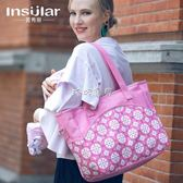 媽咪包 時尚嬰兒小號手提單肩多功能媽咪包輕便大容量母嬰包外出包媽媽包 珍妮寶貝
