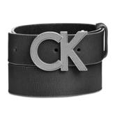 CK 休閒黑色CK真皮皮帶