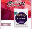 【小麥老師樂器館】民謠吉他弦 Martin M130 公司貨 現貨 馬丁 吉他弦 銀質軟弦 軟弦【A137】
