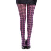 【摩達客】英國進口義大利製Pamela Mann 粉紅千鳥格紋彈性絲襪褲襪(60114083018)