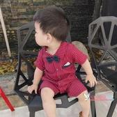 西裝禮服 寶寶連身衣夏1歲6個月滿月百日周歲西裝禮服短袖紳士薄款男兒童裝 6色