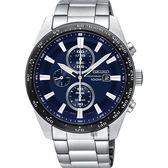 SEIKO Criteria 極速限定計時男錶-銀X藍