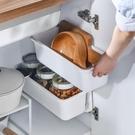 壁掛收納盒廚房免打孔掛墻垃圾桶收納盒掛壁式手機雜物調料置物架