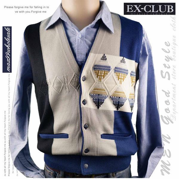 【大盤大】EX-Club 開釦背心 日本製 M號 冬 毛背心 開釦背心 辦公室 教師節 父親節  西裝穿搭 開襟