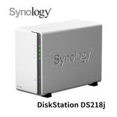 【限時促銷】 Synology 群暉科技 DiskStation DS218j 2Bay NAS 網路儲存設備