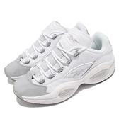 Reebok 籃球鞋 Question Low 白 灰 男鞋 AI 低筒 果洞底 運動鞋 【ACS】 GZ0366