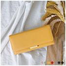 皮夾-時尚優雅雙層長夾-共7色-A08080966-天藍小舖