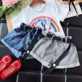 女童牛仔褲正韓時尚短褲夏季薄款褲子 童趣潮品