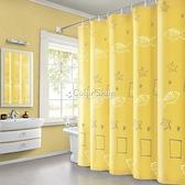 衛生間浴簾防水防黴加厚滌綸布浴室遮光窗簾隔斷簾子不透明 YYP 快速出貨