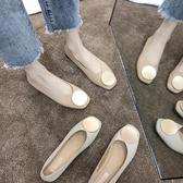 特賣夏季新款奶奶鞋女平底復古淺口孕婦鞋春單鞋森系女百搭媽媽鞋