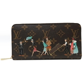 LOUIS VUITTON LV 路易威登 原花旅行插畫拉鍊長夾 Illustre Zippy Wallet BRAND OFF