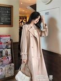 初秋新品流行小個子風衣女韓版中長款過膝寬鬆外套呢子大衣潮『櫻花小屋』