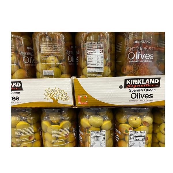 [COSCO代購] C784770 KIRKLAND SIGNATURE OL IVES 科克蘭紅心橄欖每罐1000克X 2入