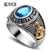 [超豐國際]s925銀飾品復古泰銀圣母十字架合成鋯石銀戒指男