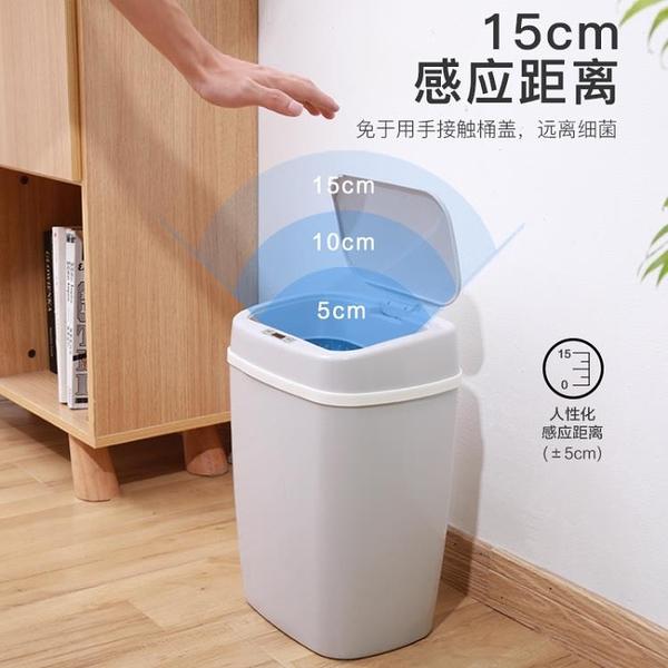 垃圾桶 家用智能全自動感應帶蓋創意客廳臥室廚房衛生間電動【【八折搶購】】