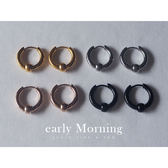 early Morning - 極簡 第四章 歐美高質感亮面小圓珠1.2cm圓圈耳環 男生耳環【CC103】