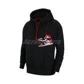 Nike 長袖T恤 Jordan Jumpman Holiday Pullover Hoodie 黑 紅 男款 喬丹 帽T 運動休閒 【ACS】 CT3458-010