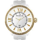 【僾瑪精品】MORRIS K 奢華獨一無二晶鑽限量時尚腕錶-金框/40mm/MK11185-DM104
