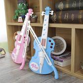 小提琴兒童初學者樂器學生用電子仿真音樂女孩手提琴生日禮物玩具 JY 免運滿499元88折秒殺