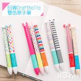 【日貨Craftholic雙色原子筆】Norns 日本宇宙人雙色筆 兔子貓咪猴子小熊 卡通黑筆紅筆