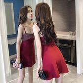 夜店露背性感吊帶抹胸連衣裙女裝氣質無袖修身背心打底a字裙  伊衫風尚