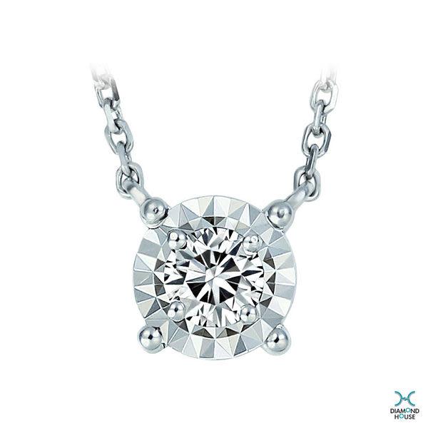 ﹝鑽石屋﹞10分鑽石套鍊 簡約造型項鍊 天然真鑽  DB032451