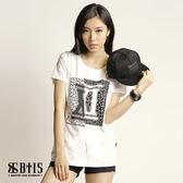 【BTIS】拼接圓領T-shirt / 白色