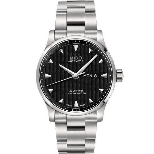 MIDO 美度 Multifort 先鋒系列經典機械手錶-黑x銀/42mm M0054311144100