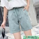 棉麻短褲 棉麻褲女寬鬆亞麻短褲夏季新款休...