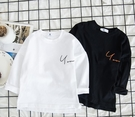 男童T恤兒童上衣長袖打底衫2020新款正韓春秋季小童秋裝白色體恤【免運】