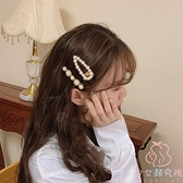 超仙珍珠發夾劉海夾子森系復古邊夾頭飾發卡頂夾【少女顏究院】