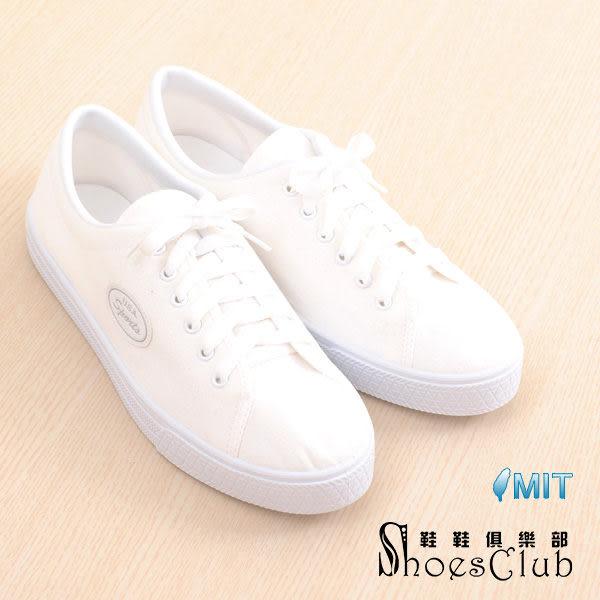 帆布鞋.台灣製MIT 復古造型USA標誌彩繪用帆布鞋.白色【鞋鞋俱樂部】【208-N702-白】