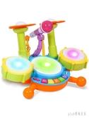 兒童架子鼓寶寶樂器男孩初學者敲打爵士鼓女孩音樂0-1-3-6歲玩具 js6188『Pink領袖衣社』