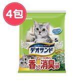 【Unicharm】日本消臭大師消臭礦砂森林香-5LX4包