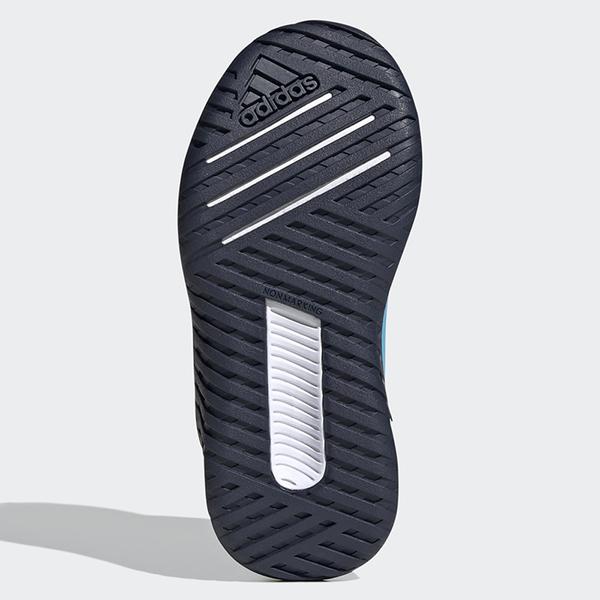 ADIDAS 4UTURE SPORT 童鞋 中童 慢跑 EVA+Cloudfoam中底 緩衝 魔鬼氈 藍【運動世界】FV3708