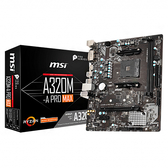 [哈GAME族]免運費 可刷卡●核心加速引擎●MSI 微星 A320M-A PRO 主機板 M-ATX 2xDIMM DDR4