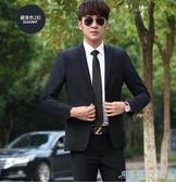西裝男外套青年西服男士職業上衣單西韓版修身商務休閒小西裝套裝 千千女鞋