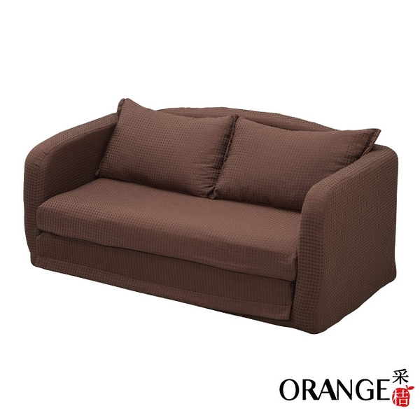 【采桔家居】米加利 時尚亞麻布拉合式機能沙發/沙發床(二色可選)