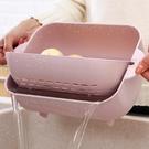 瀝水籃 雙層洗菜籃瀝水盆家用塑料旋轉洗水...