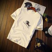 夏季短袖T恤男韓版寬鬆圓領體恤學生棉質打底半袖潮流男士上衣服