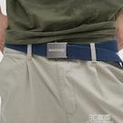 WASSUP復古做舊 潮流自動扣腰帶通用男女休閒啞光合金帆布編織帶 3C優購