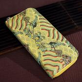 中國風云錦女士手包民族特色手工藝刺繡錢包 ☸mousika