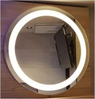 【麗室衛浴】防水防霧  圓形 LED白燈  化妝鏡  J-408  直徑600mm  另售800mm