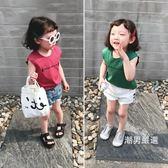 背心 女童無袖上衣夏季棉質女童t恤外穿寶寶休閒字母背心薄款兒童衣服 2色【潮男嚴選】