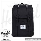 Herschel 後背包  Retreat  黑色/白格橡膠  筆電後背包 Retreat-1688  MyBag得意時袋