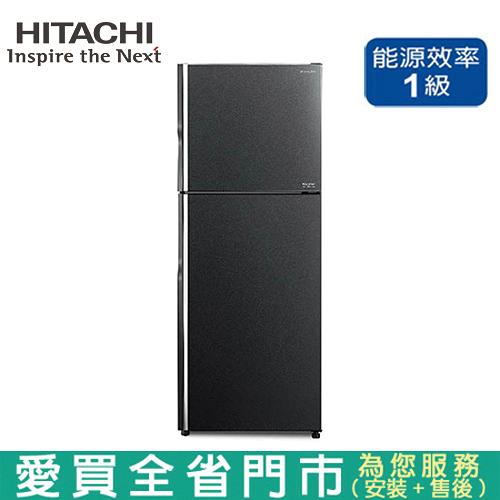 HITACHI日立403L雙門變頻琉璃冰箱RG409-GGR含配送+安裝【愛買】