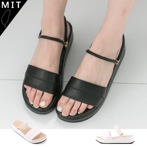 女款 一字質感厚底兩穿式 厚底拖鞋 MIT製造 59鞋廊