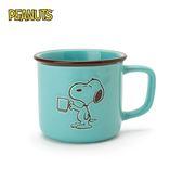 【日本正版】史努比 陶瓷 馬克杯 300ml 咖啡杯 寬口杯 Snoopy PEANUTS - 841082